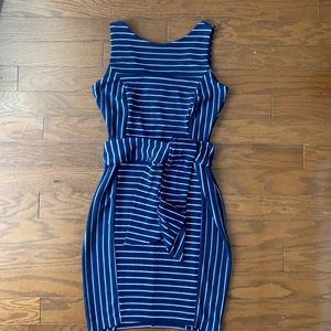 A Pea in the Pod | Maternity Dress Navy Stripe S